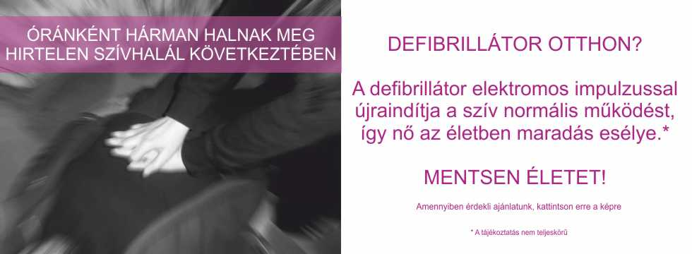 Újraélesztés AED PAD defibrillátor